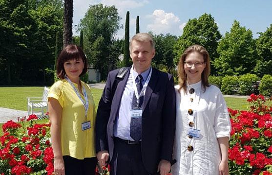 И.Февралева, Н.Гончаренко и С.Леденцова в лучах итальянского солнца